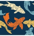 The pattern of koi vector image