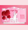 valentines day on abstract background with text i vector image