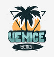 venice beach los angeles california palm tree vector image vector image