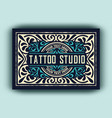 vintage logo template for tattoo studio vector image vector image