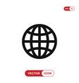 world wide icon web symbol vector image vector image