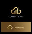cloud business finance gold logo vector image