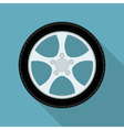 flat wheel vector image