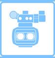 3d movie camera icon vector image