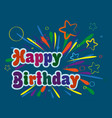 a birthday card with a beautiful and colorful vector image