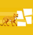 a cheetah on yellow template vector image vector image