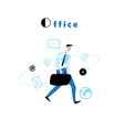 a walking manager to work vector image
