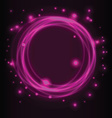 Abstract background glowing circles vector image
