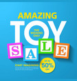 amazing toy sale banner vector image vector image