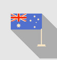 australia flag in flat style with long shadow vector image vector image