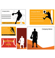 basketball business cards vector image vector image