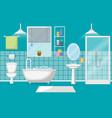 bathroom interior clean modern room furniture vector image