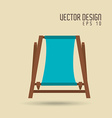 beach icon design vector image vector image