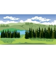 Beauty landscape with forest and mountain vector image vector image