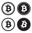 bitcoin black and white silhouette vector image
