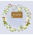 Blossom Frame Fairy Message Text Love Bird vector image vector image