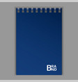 blue sketchbook icon realistic style vector image