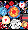 bright seamless pattern of different round vector image vector image