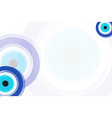 card with blue evil eyes - evil eye vector image vector image