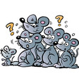 cartoon a bunch wondering mice vector image