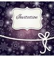 Christmas invitation card vector image vector image