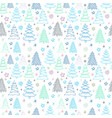 christmas pattern with colorful fir-trees on a vector image vector image
