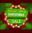 christmas sale special discount promotion poster vector image