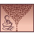 Coffee beans background vector image vector image