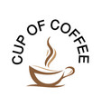 cup of coffee image vector image