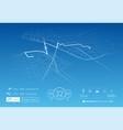 custom navigation system vector image vector image