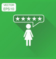 customer reviews rating user feedback icon vector image vector image