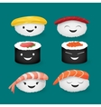 Cute sushi vector image