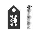 death label icon with people bonus vector image vector image
