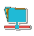 file host archive ftp vector image vector image