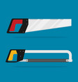 flat saw set isolated vector image vector image