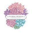 floral bouquet design with pastel succulent vector image