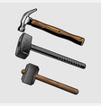 hammer sets vector image vector image