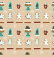 hand drawn abstract cartoon christmas vector image