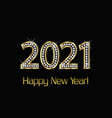 happy new year 2021 gold and diamonds background vector image vector image