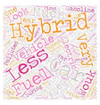 history of hybrid car text background wordcloud vector image vector image