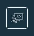 informatics icon line symbol premium quality vector image vector image