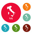 italy map in black simple vector image vector image