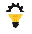 Light bulb gear idea concept vector image vector image