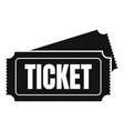 museum ticket icon simple style vector image