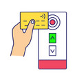 nfc credit card reader color icon