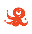 octopus abstract sign vector image vector image