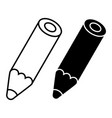 pencil silhouettes vector image vector image