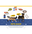 pet shop round concept vector image
