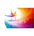 pommel horse male gymnast in artistic gymnastics vector image vector image