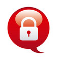red bubbles with lock symbol icon vector image vector image
